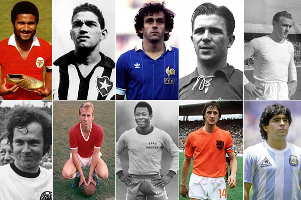 Os 10 maiores jogadores de futebol de sempre | Desportolândia
