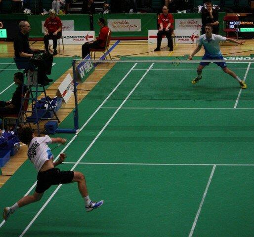 Jogo de badminton