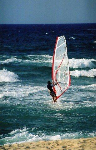 Praticante de Windsurf